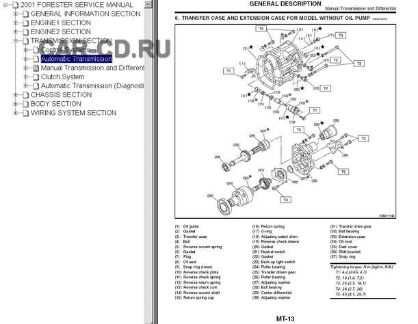 руководство по ремонту субару форестер 2007