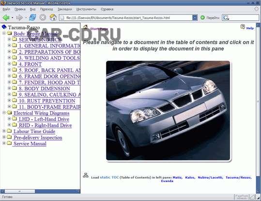 Руководство пользователя Chevrolet Europe TIS