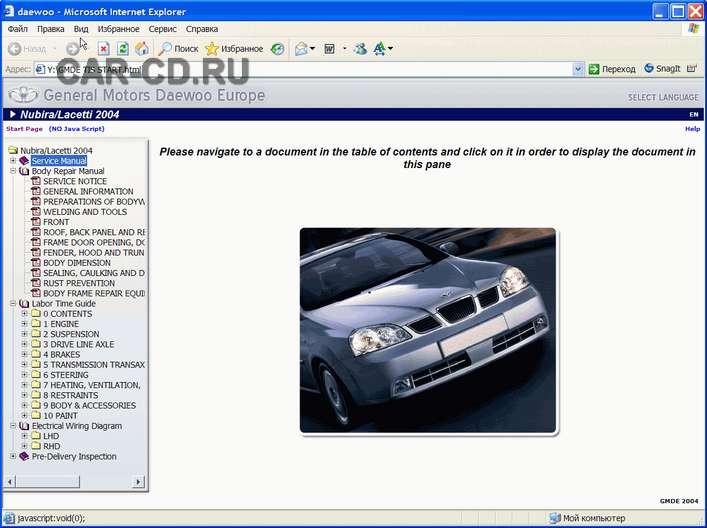 cd каталог на автомобили: